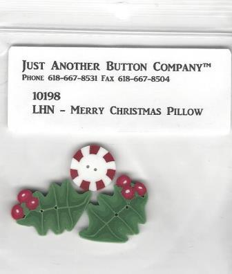 Just Another Button Company - Little House Needleworks-Merry Christmas Pillow Button Pack-Just Another Button Company - Little House Needleworks-Merry Christmas Pillow Button Pack