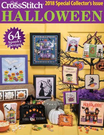 Just Cross Stitch - 2018 Halloween Special Collector's Issue-Just Cross Stitch - 2018 Halloween Special Collectors Issue, fall, cross stitch, trick or treat