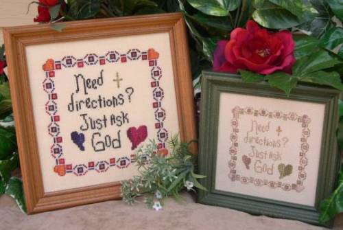 Designs by Lisa - Just Ask God - Cross Stitch Pattern
