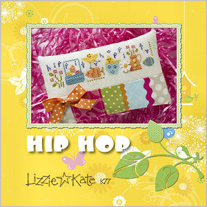 Lizzie Kate - Hip Hop Kit-Lizzie Kate, Hip Hop Kit, Easter, cross stitch, bunny,