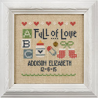Lizzie Kate - A Little Baby Kit-Lizzie Kate - A Little Baby Kit, baby announcement, baby shower, birth announcement, cross stitch