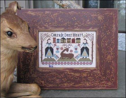 Kathy Barrick - Courage Deer Heart-Kathy Barrick - Courage Deer Heart - Deer, love, strength, cross stitch