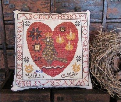 Kathy Barrick - Pennsylvania Fraktur Heart-Kathy Barrick - Pennsylvania Fraktur Heart, heart, love , flowers, cross stitch