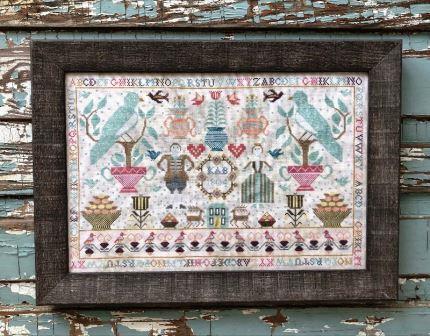 Kathy Barrick - Nottingham-Kathy Barrick - Nottingham, home, sampler, birds, alphabet, couple, berry baskets, cross stitch, 2021 expo,