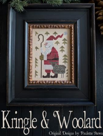 Plum Street Samplers - Kringle & Woolard-Plum Street Samplers - Kringle  Woolard, Christmas, sheep, Santa Claus, cross stitch, primitive,