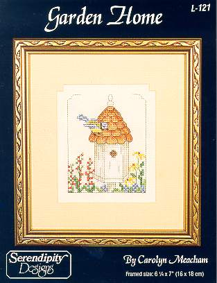 Serendipity Designs - Garden Home-Serendipity Designs - Garden Home, birdhouse, birds, flowers,