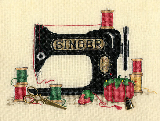 Sue Hillis Designs - Sew Many Memories - Cross Stitch Pattern with Charms-Sue Hillis Designs, Sew Many Memories, Cross Stitch Pattern with charms
