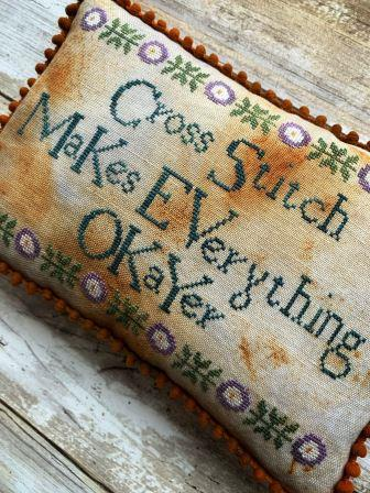 Lucy Beam Love in Stitches - Cross Stitch Makes Everything Okayer-Lucy Beam Love in Stitches - Cross Stitch Makes Everything Okayer, hobbies, crafts, peaceful, cross stitch