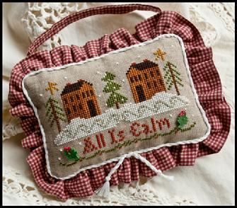 Little House Needleworks - Ornament of the Month 2010 - All is Calm - Cross Stitch Pattern