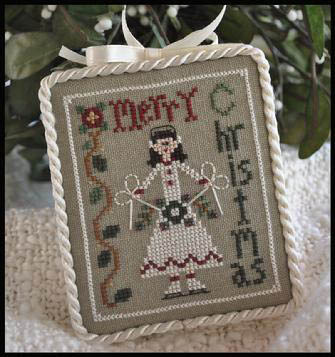 Little House Needleworks - Ornament of the Month 2010 - Merry Skater-Little House Needleworks - Ornament of the Month 2010 - Merry Skater - Cross Stitch Pattern