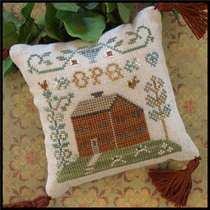 Little House Needleworks - ABC Samplers - OPQ-Little House Needleworks - ABC Samplers - OPQ, Christmas ornaments, alphabets, cross stitch,  houses,
