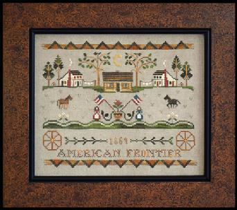 Little House Needleworks - Tumbleweeds - American Frontier-Little House Needleworks, Tumbleweeds, American Frontier, Cross Stitch Pattern, western theme, cowboys,