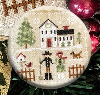 Stitch Dots - Farmhouse Christmas - Farm Folk Needle Nanny by Little House Needleworks-Stitch Dots - Farmhouse Christmas - Farm Folk Needle Nanny by Little House Needleworks