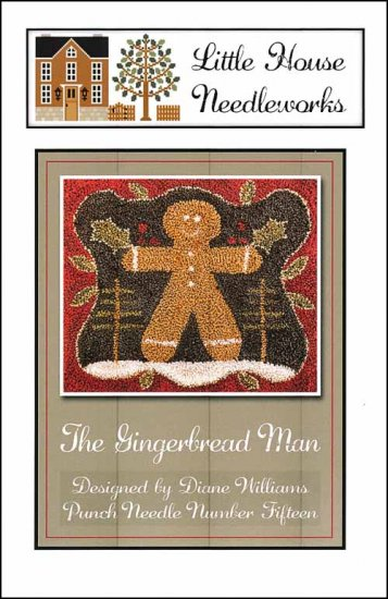 Little House Needleworks - Gingerbread Man Punch Needle-Little House Needleworks - Gingerbread Man Punch Needle, gingerbread cookies, prim, punch needle,