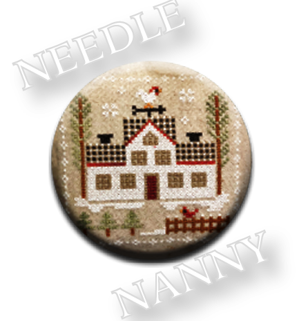 Stitch Dots - Farmhouse Christmas - Cock-a-doodle-doo Needle Nanny by Little House Needleworks-Stitch Dots - Farmhouse Christmas - Cock-a-doodle-doo Needle Nanny by Little House Needleworks