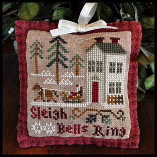 Little House Needleworks - Ornament of the Month 2012 - No. 04 - Sleigh Bells Ring - Cross Stitch Pattern