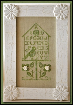 Little House Needleworks - Birdhouse Alphabet - Cross Stitch Pattern with Belle Soie Threads
