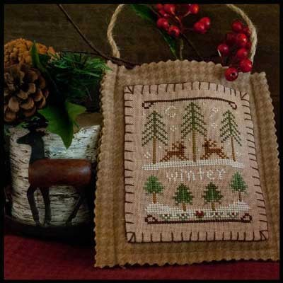 Little House Needleworks - Ornament of the Month 2011 - Winter Forest-Little House Needleworks - Ornament of the Month 2011 - Winter Forest - Cross Stitch Pattern