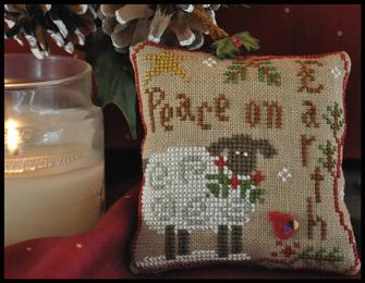 Little House Needleworks - Ornament of the Month 2010 - Winter Sheep-Little House Needleworks - Ornament of the Month 2010 - Winter Sheep - Cross Stitch Pattern