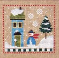 Lizzie Kate - 6 Snow Belles Flip-it - Blizzard Babes-Lizzie Kate, 6 Snow Belles, Flip-it,  Blizzard Babes, house, tree, snowflakes,snow ladies, Cross Stitch Pattern