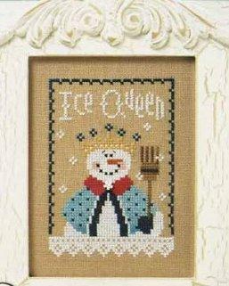 Lizzie Kate - 6 Snow Belles Flip-it - Ice Queen-Lizzie Kate, 6 Snow Belles Flip-it, Ice Queen, snow ladies, crown, snowflakes, lace coat, Cross Stitch Pattern