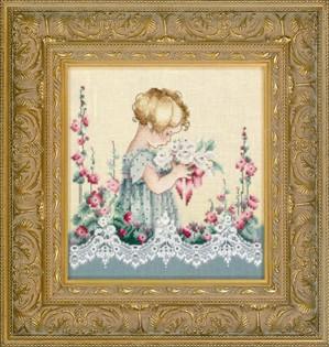 Lavender & Lace - Emma's Garden-Lavender  Lace - Emmas Garden, flowers, child, granddaughter, lace,