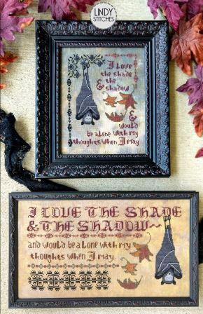 Lindy Stitches - Dracula's Confession-Lindy Stitches - Draculas Confession, bats, Halloween, alone, cross stitch