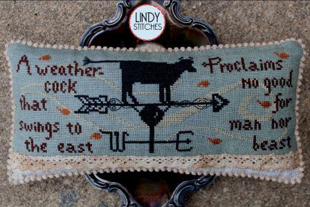 Lindy Stitches - No Good for Man or Beast-Lindy Stitches - No Good for Man or Beast, Halloween, weather vane, cow, bull, cross stitch