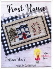 Little Stitch Girl - Frost House-Little Stitch Girl - Frost House, house, snowman,