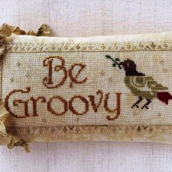 Lucy Beam Love in Stitches - Be Groovy-Lucy Beam Love in Stitches - Be Groovy, bird, chill, cross stitch