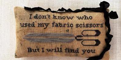 Lucy Beam Love in Stitches - I Will Find You-Lucy Beam Love in Stitches - I Will Find You, fabric scissors, cutting, no paper, cross stitch