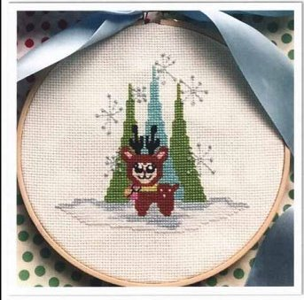Luhu Stitches - Little Deer-Luhu Stitches - Little Deer, winter, trees, smalls, cross stitch, forest,