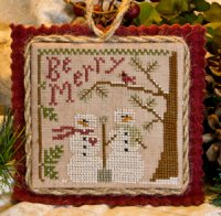 Little House Needleworks - Ornament of the Month 2011 - Snow in Love-Little House Needleworks - Ornament of the Month 2011 - Snow in Love - Cross Stitch Pattern
