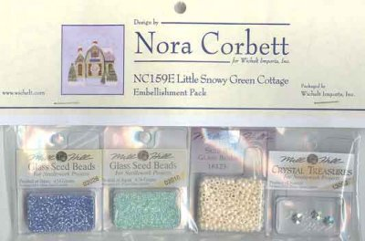 Mill Hill - Nora Corbett - Snow Globe Village Series Embellishment Pack for  Little Snowy Green Cottage-Mill Hill, Snow Globe Village, Series Embellishment Pack for  Little Snowy Green Cottage