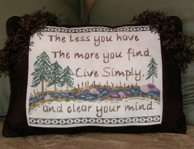 Designs by Lisa - Live Simply - Cross Stitch Pattern