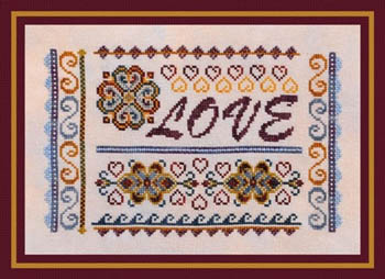Turquoise Graphics & Designs - Love Sampler - Cross Stitch Pattern