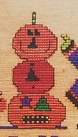 Amy Bruecken Designs - Lucky 13 Part 4-Amy Bruecken Designs - Lucky 13 Part 4, pumpkins, jack o lanterns, Halloween, trick or treat, cross stitch