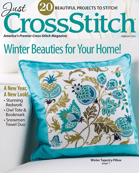 Just Cross Stitch - 2014 #1 Issue January/February - Cross Stitch Magazine-Just Cross Stitch, 2014 January/February, Cross Stitch Magazine