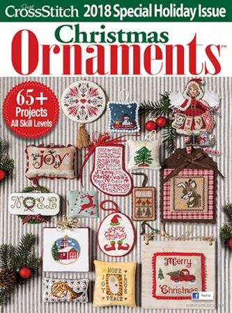 Just Cross Stitch - 2018 Christmas Ornament Special Issue-Just Cross Stitch - 2018 Christmas Ornament Special Issue, Santa Claus, Christmas tree, angels, ornaments, cross stitch