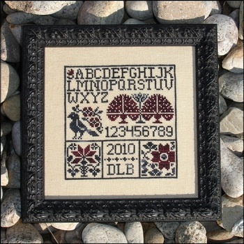 My Big Toe Designs - Blackbird's Garden - Cross Stitch Pattern