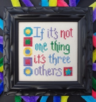 My Big Toe Designs - Not One Thing - Cross Stitch Pattern
