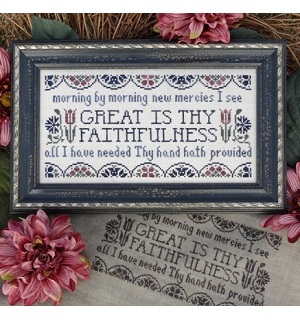 My Big Toe Designs - Great Is Thy Faithfulness - Cross Stitch Pattern
