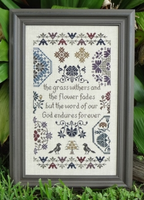 My Big Toe Designs - Quaker Endurance-My Big Toe - Quaker Endurance, , faith, God, motifs, birds, cross stitch