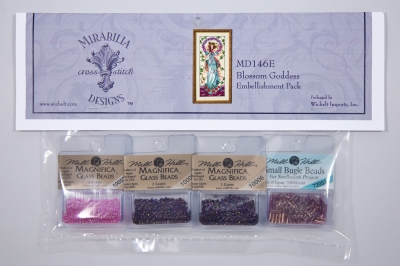 Mill Hill - Mirabilia Embellishment - Blossom Goddess Embellishment Pack-Mill Hill - Mirabilia Embellishment - Blossom Goddess Embellishment Pack, beads, cross stitch