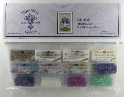 Mill Hill - Mirabilia Embellishment Pack for Winter Love-Mill Hill - Mirabilia Embellishment Pack for Winter Love, beads, buttons, cross stitch