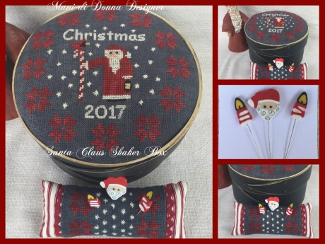 Mani di Donna - Santa Claus Shaker Box-Mani di Donna - Santa Claus Shaker Box, Christmas, snowflakes, cross stitch