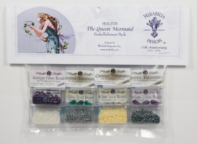 Mill Hill - Mirabilia Embellishment Pack - Queen Mermaid-Mill Hill - Mirabilia Embellishment Pack - Queen Mermaid