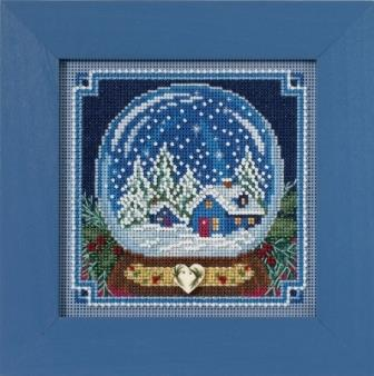 Mill Hill - Snow Globe-Mill Hill - Snow Globe, Christmas, snow, music box, home, cross stitch, beading