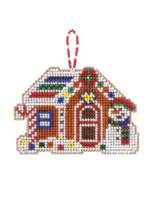 Mill Hill - Gingerbread Cabin (2021)-Mill Hill - Gingerbread Cabin 2021, candy cane, snowman, candy, ornament, Christmas, winter, cross stitch, beads,