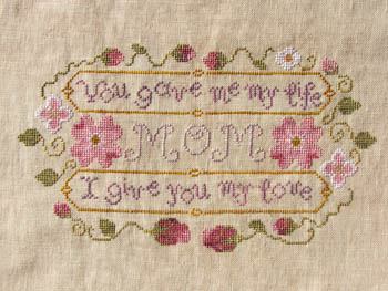 Misty Hill Studios - Mom's Gift - Cross Stitch Pattern-Misty Hill Studios, Mom's Gift, Cross Stitch Pattern